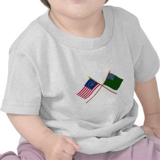 Bennington cruzado e bandeiras verdes dos meninos