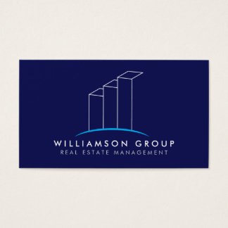Bens imobiliários, arquiteto, logotipo de cartão de visitas