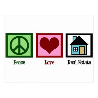 Bens imobiliários do amor da paz cartão postal