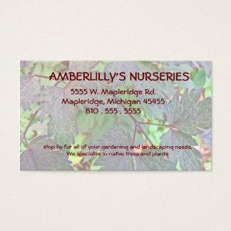 Berçário e fonte de jardinagem cartão de visitas