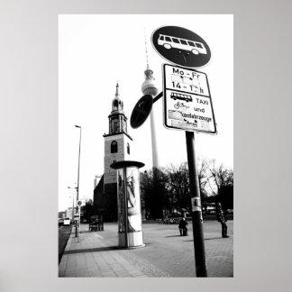 Berlim preto Weis de fotografia de rua Posters