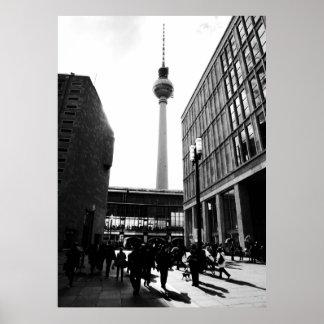 Berlim street photography poster