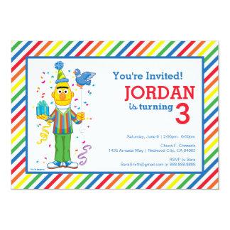 Bert listrou o aniversário convite 12.7 x 17.78cm