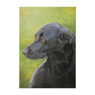 Bess - Labrador preto Impressão De Canvas Esticadas