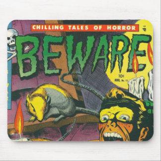 Beware a banda desenhada mouse pad