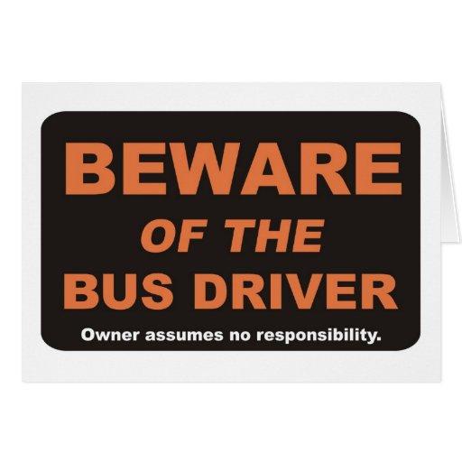 Beware/condutor de autocarro cartão