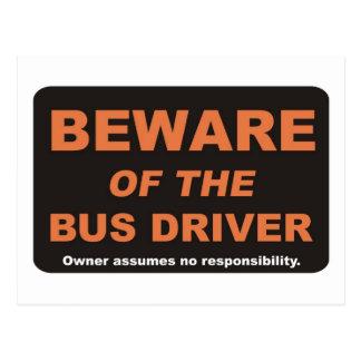 Beware/condutor de autocarro cartão postal