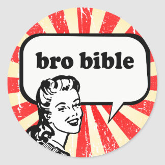 BÍBLIA DE BRO ADESIVO REDONDO