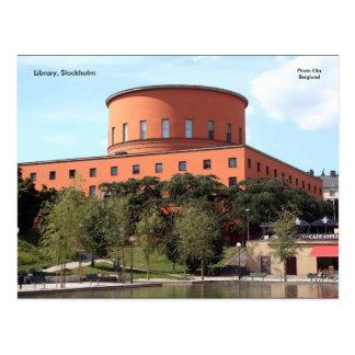 Biblioteca, Éstocolmo, Ola B da foto… Cartão Postal
