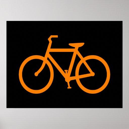 Bicicleta alaranjada poster
