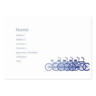 Bicicleta azul - carnudo cartão de visita grande