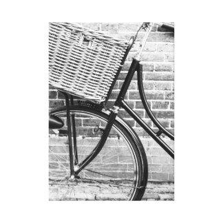 Bicicleta, canvas preto e branco impressão em tela