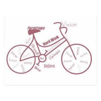 Bicicleta, ciclo, bicicleta, palavras inspiradores cartão postal