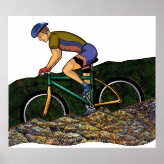 Bicicleta da equitação do homem novo poster