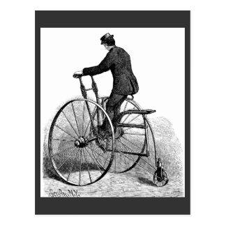 Bicicleta da roda do Victorian três do triciclo do Cartão Postal