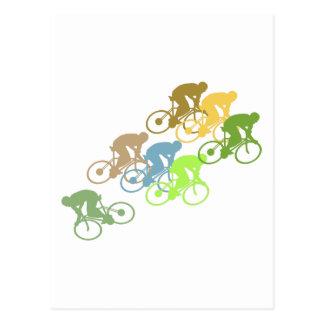 Bicicleta do ciclismo da bicicleta cartão postal