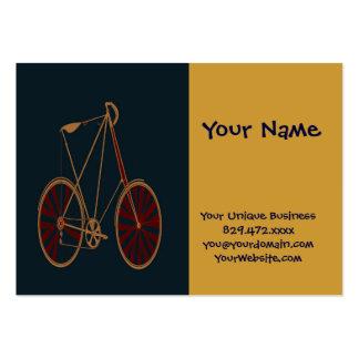 Bicicleta do vermelho azul da velha escola da bici modelo cartoes de visita