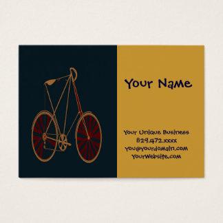 Bicicleta do vermelho azul da velha escola da cartão de visitas