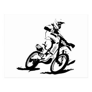 Bicicleta e cavaleiro simples de Motorcross Cartão Postal