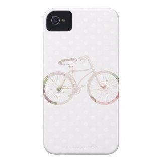 Bicicleta floral feminino capinhas iPhone 4