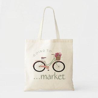 Bicicleta - indo introduzir no mercado bolsa tote