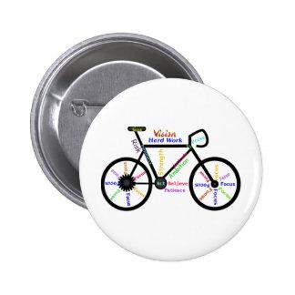 Bicicleta inspirador, ciclo, Biking, palavras do e Bóton Redondo 5.08cm