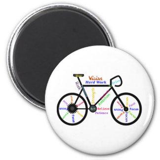 Bicicleta inspirador, ciclo, Biking, palavras do e Ímã Redondo 5.08cm