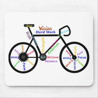 Bicicleta inspirador, ciclo, Biking, palavras do e Mouse Pad
