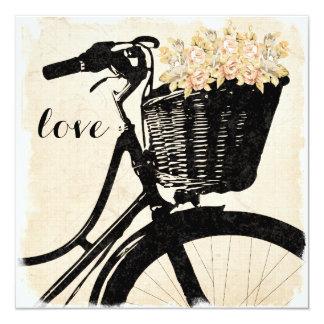 Bicicleta lunática com as flores que Wedding Convite