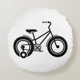 Bicicleta preto e branco almofada redonda