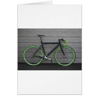 Bicicleta verde cartão comemorativo