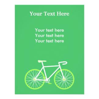 Bicicleta verde panfleto coloridos