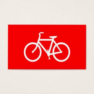 Bicicleta vermelha e branca cartão de visitas
