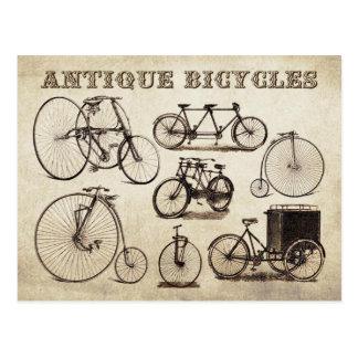 Bicicletas antigas (Velocipedes) Cartão Postal