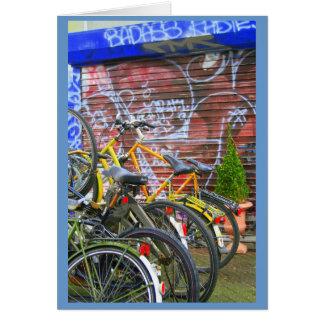 Bicicletas Cartão De Nota