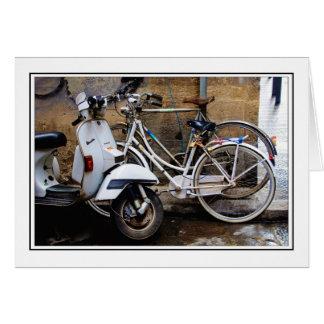 Bicicletas de Florença Cartão