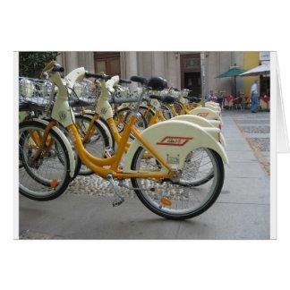 Bicicletas públicas cartão comemorativo