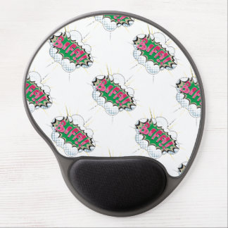 Biff cómico do pop art mousepad de gel