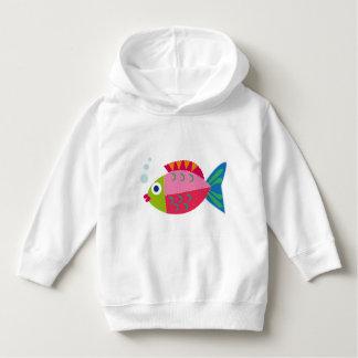 """""""Big peixe"""" camisola de capuz para crianças T-shirts"""