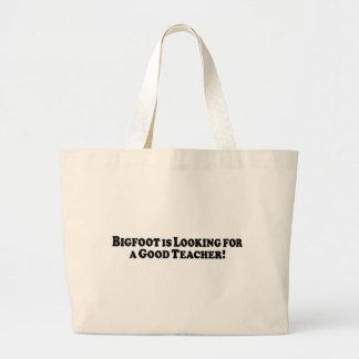 Bigfoot que olha para o bom professor bolsa para compras