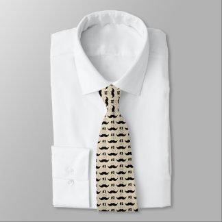 Bigode bege e preto do pai #1 - número um gravata