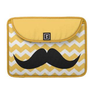 Bigode chique bonito amarelo do teste padrão de zi bolsa para MacBook pro