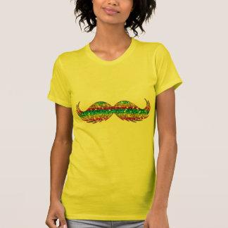 Bigode do brilho do arco-íris camisetas