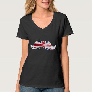 Bigode do vintage camiseta