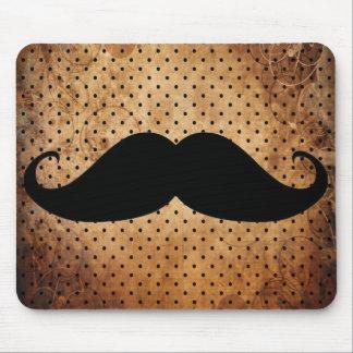 Bigode preto engraçado mouse pad