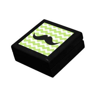 Bigode verde do trinket do teste padrão de zigueza porta treco