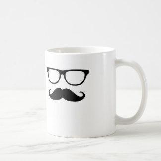 Bigode & vidros caneca de café