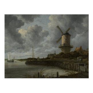 Bij holandês Duustede de Wijk do moinho de vento, Cartão Postal