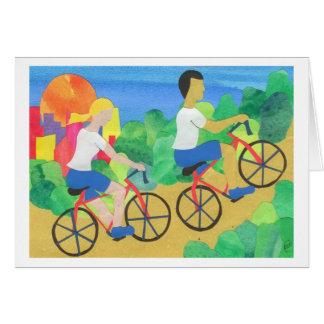 Biking no Central Park Cartoes