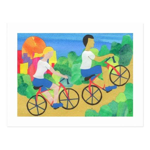 Biking no Central Park Cartao Postal